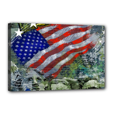 Usa United States Of America Images Independence Day Canvas 18  X 12