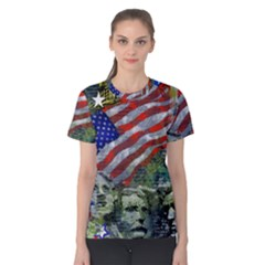 Usa United States Of America Images Independence Day Women s Cotton Tee