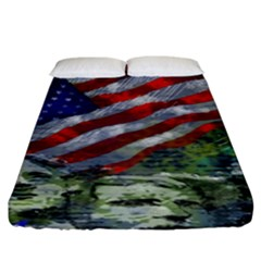Usa United States Of America Images Independence Day Fitted Sheet (king Size)