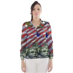 Usa United States Of America Images Independence Day Wind Breaker (women)