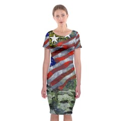 Usa United States Of America Images Independence Day Classic Short Sleeve Midi Dress