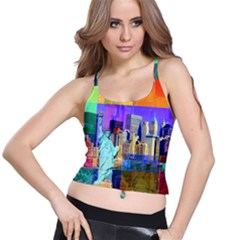 New York City The Statue Of Liberty Spaghetti Strap Bra Top