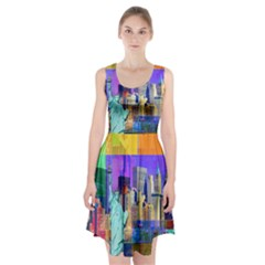 New York City The Statue Of Liberty Racerback Midi Dress
