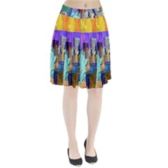 New York City The Statue Of Liberty Pleated Skirt by BangZart