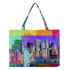 New York City The Statue Of Liberty Medium Tote Bag