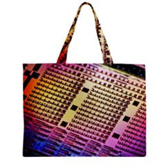 Optics Electronics Machine Technology Circuit Electronic Computer Technics Detail Psychedelic Abstra Zipper Mini Tote Bag by BangZart