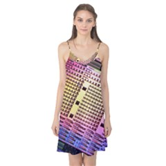 Optics Electronics Machine Technology Circuit Electronic Computer Technics Detail Psychedelic Abstra Camis Nightgown