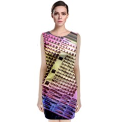 Optics Electronics Machine Technology Circuit Electronic Computer Technics Detail Psychedelic Abstra Classic Sleeveless Midi Dress