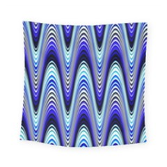 Waves Blue Square Tapestry (small) by Colorfulart23