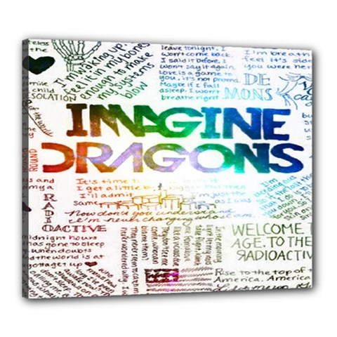 Imagine Dragons Quotes Canvas 24  X 20  by BangZart