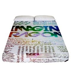 Imagine Dragons Quotes Fitted Sheet (california King Size) by BangZart