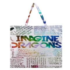 Imagine Dragons Quotes Zipper Large Tote Bag