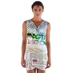 Imagine Dragons Quotes Wrap Front Bodycon Dress