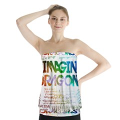 Imagine Dragons Quotes Strapless Top