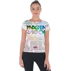 Imagine Dragons Quotes Short Sleeve Sports Top  by BangZart