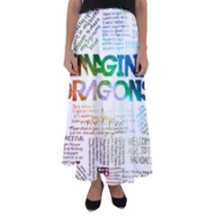 Imagine Dragons Quotes Flared Maxi Skirt