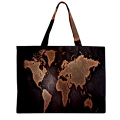 Grunge Map Of Earth Zipper Mini Tote Bag by BangZart
