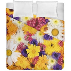 Colorful Flowers Pattern Duvet Cover Double Side (california King Size)