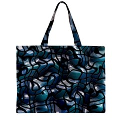 Old Spiderwebs On An Abstract Glass Zipper Mini Tote Bag by BangZart