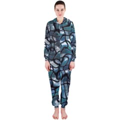 Old Spiderwebs On An Abstract Glass Hooded Jumpsuit (ladies)