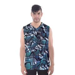 Old Spiderwebs On An Abstract Glass Men s Basketball Tank Top