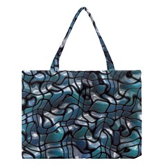 Old Spiderwebs On An Abstract Glass Medium Tote Bag