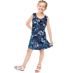 Old Spiderwebs On An Abstract Glass Kids  Tunic Dress