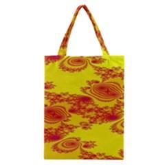Floral Fractal Pattern Classic Tote Bag
