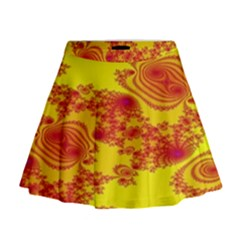 Floral Fractal Pattern Mini Flare Skirt