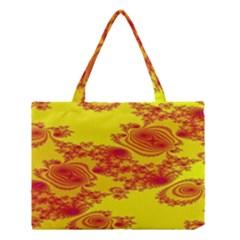 Floral Fractal Pattern Medium Tote Bag by BangZart