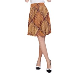 Vector Square Texture Pattern A Line Skirt