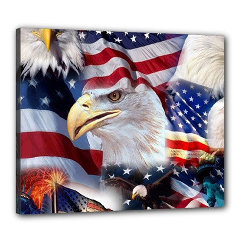 United States Of America Images Independence Day Canvas 24  X 20  by BangZart
