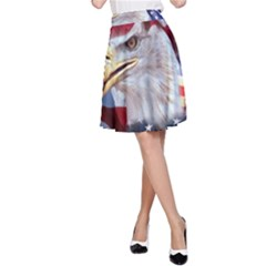 United States Of America Images Independence Day A Line Skirt