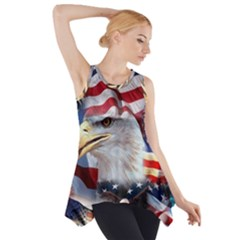 United States Of America Images Independence Day Side Drop Tank Tunic