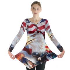 United States Of America Images Independence Day Long Sleeve Tunic