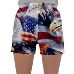 United States Of America Images Independence Day Sleepwear Shorts