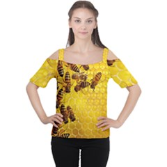 Honey Honeycomb Cutout Shoulder Tee