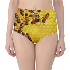 Honey Honeycomb High Waist Bikini Bottoms