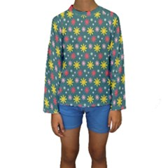 The Gift Wrap Patterns Kids  Long Sleeve Swimwear