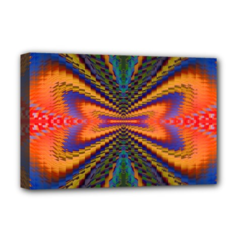 Casanova Abstract Art Colors Cool Druffix Flower Freaky Trippy Deluxe Canvas 18  X 12