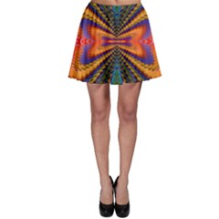 Casanova Abstract Art Colors Cool Druffix Flower Freaky Trippy Skater Skirt