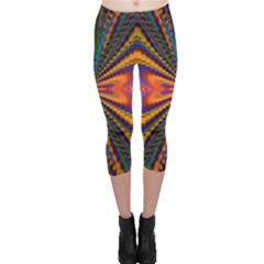 Casanova Abstract Art Colors Cool Druffix Flower Freaky Trippy Capri Leggings