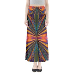 Casanova Abstract Art Colors Cool Druffix Flower Freaky Trippy Full Length Maxi Skirt