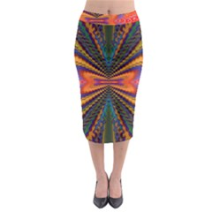 Casanova Abstract Art Colors Cool Druffix Flower Freaky Trippy Midi Pencil Skirt