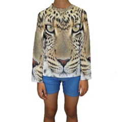 Leopard Face Kids  Long Sleeve Swimwear