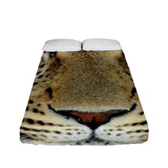 Leopard Face Fitted Sheet (full/ Double Size) by BangZart