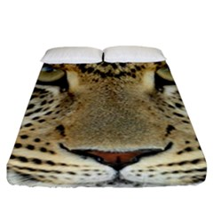 Leopard Face Fitted Sheet (king Size)