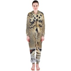 Leopard Face Hooded Jumpsuit (ladies)