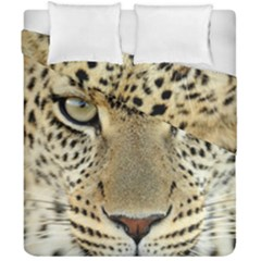 Leopard Face Duvet Cover Double Side (california King Size)
