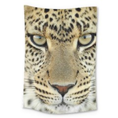 Leopard Face Large Tapestry by BangZart